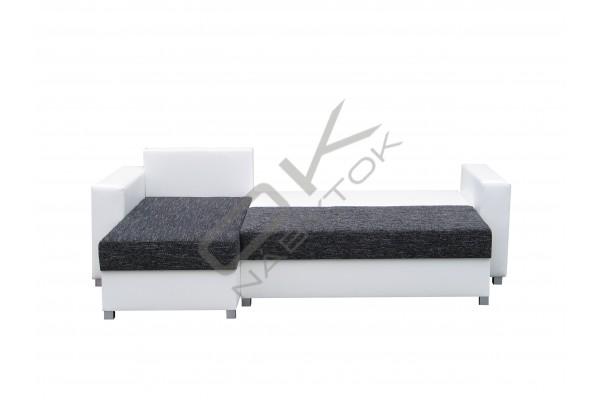 Univerzálna rohová sedacia súprava BRALANI - čierna/biela