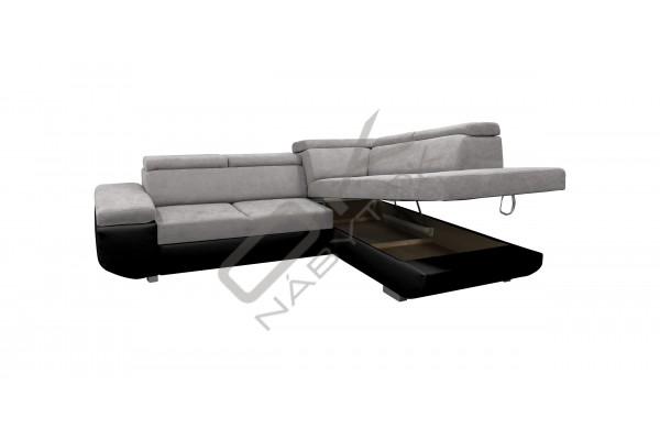 Rohová sedacia súprava BUTON - hnedá/tmavohnedá