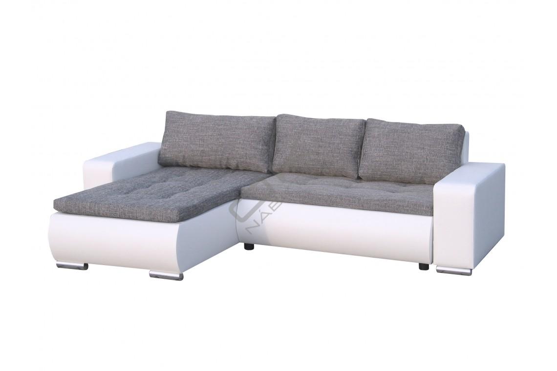 Univerzálna rohová sedacia súprava DARLA - svetlosivá/biela