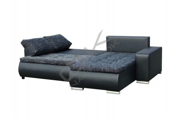 Univerzálna rohová sedacia súprava DARLA - čierna