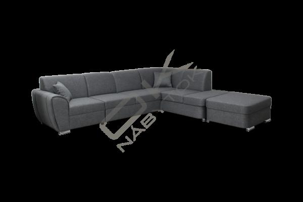 FENIX Rozkladacia rohová sedacia súprava DOLORES - tmavohnedá
