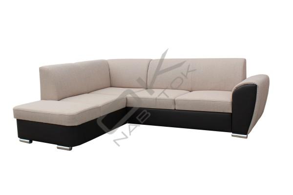 Rohová sedacia súprava DOLORES SMALL - sivá/biela