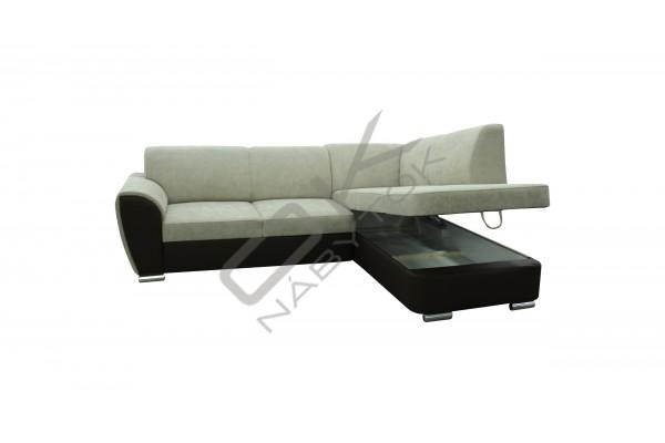 FENIX Rozkladacia rohová sedacia súprava DORA - svetlosivá/čierna