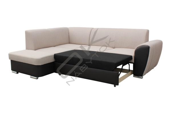 Rozkladacia rohová sedacia súprava DORIS - svetlosivá/čierna