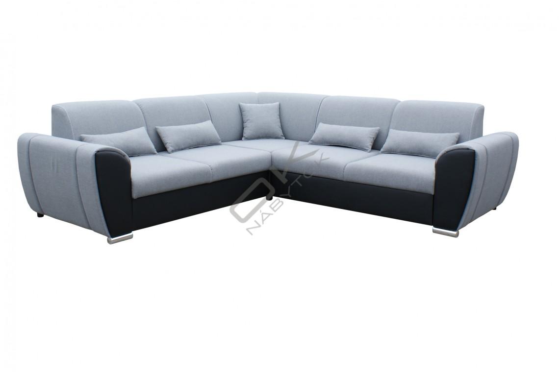 Rohová sedacia súprava DENIM - svetlosivá/čierna