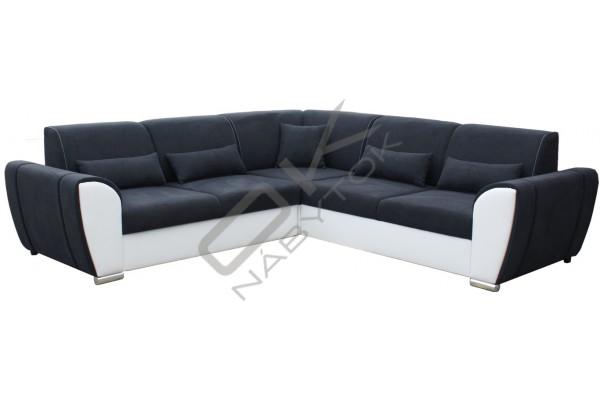 Rohová sedacia súprava DENIM - svetlohnedá/tmavohnedá