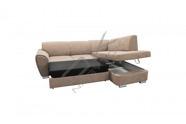 Rohová sedacia súprava DOLORES SMALL svetlosivá