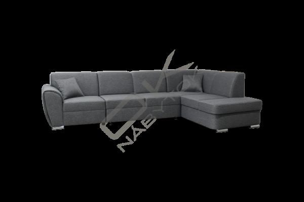 Rohová sedacia súprava DOLOREZ+taburetka - na výber viac farieb