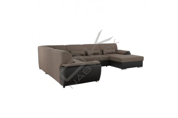 FENIX Rozkladacia sedacia súprava EMILY U - tmavosivá/biela
