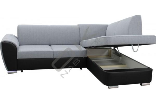 Rohová sedacia súprava LUXOR L - svetlohnedá/tmavohnedá
