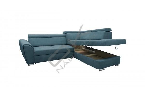 Rohová sedacia súprava MANDI L - modrá