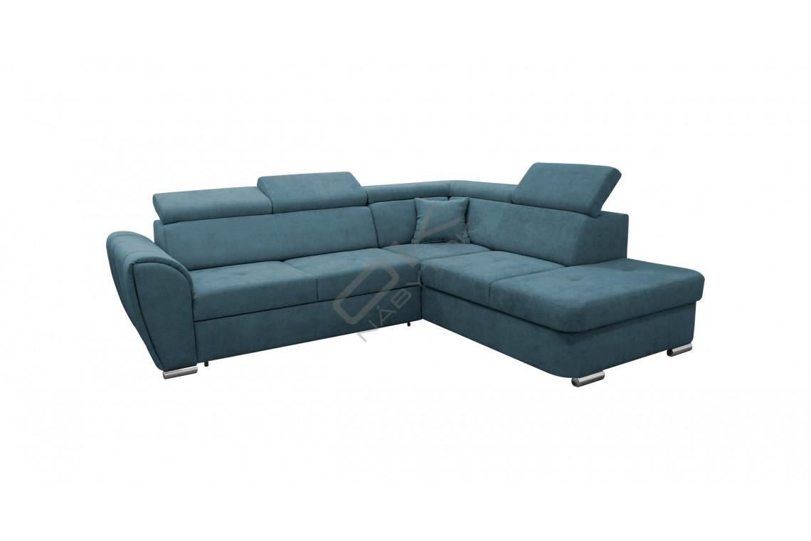 Rohová sedacia súprava MODENA L - modrá