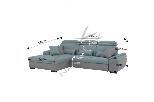 Rozkladacia rohová sedacia súprava NATIK - na výber viac farieb