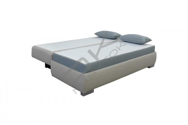 Kvalitná rozkladacia pohovka na každodenné spanie OLIMP - svetlohnedá/tmavohnedá
