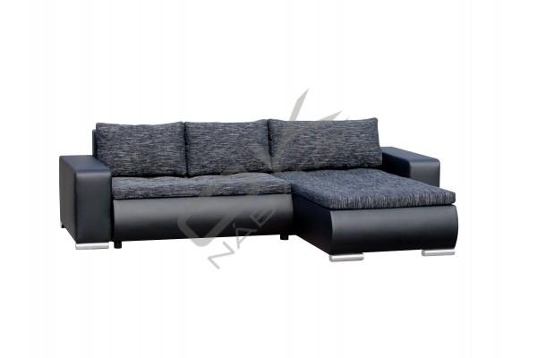 FENIX Rozkladacia rohová sedacia súprava ORION - čierna