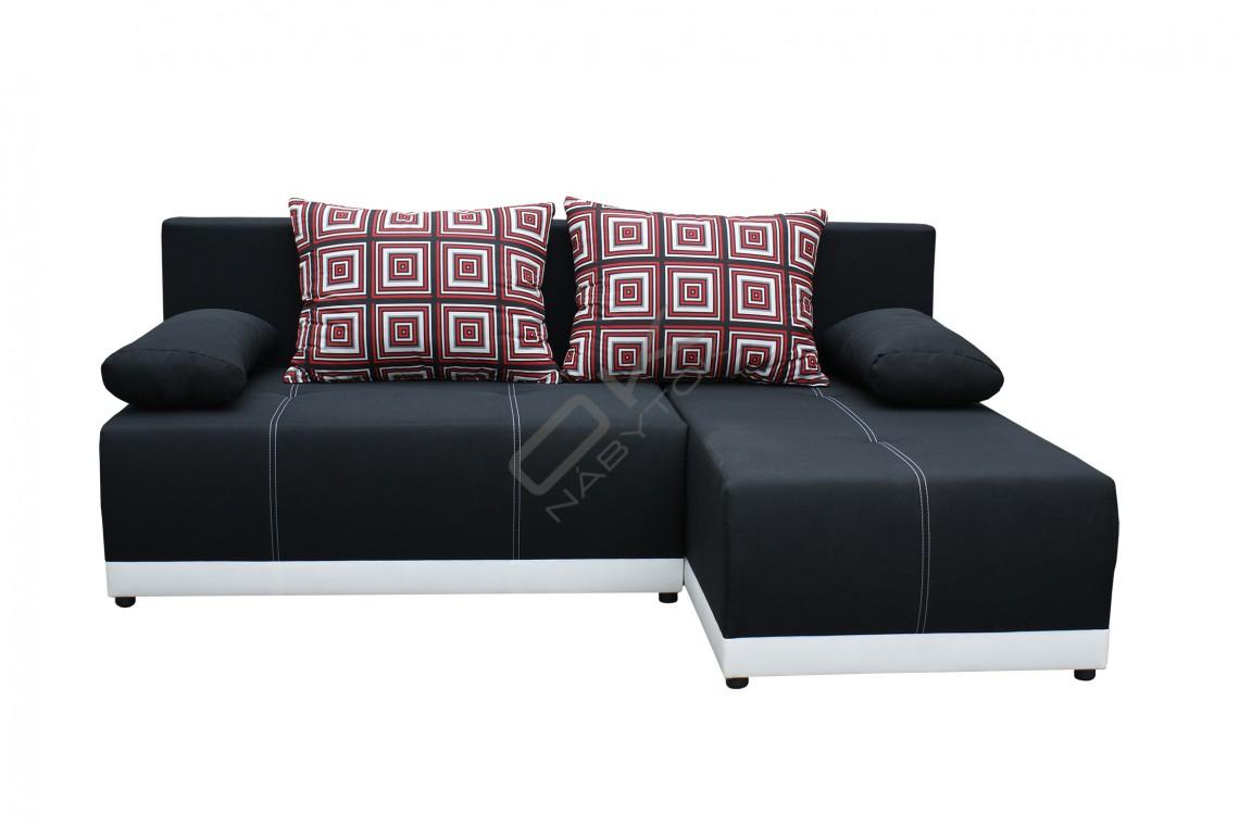 FENIX Rohová sedacia súprava POLARIS - čierna