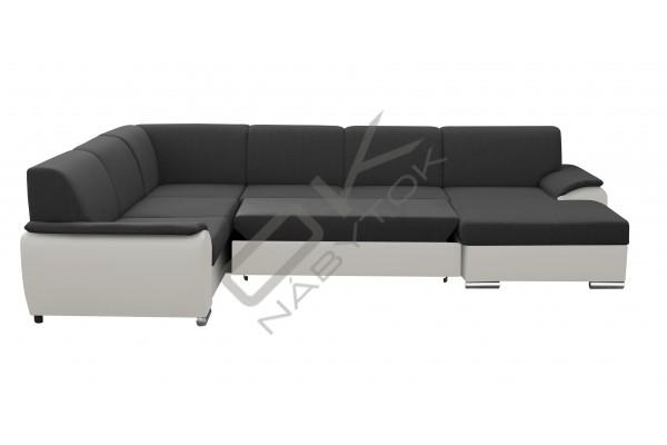 FENIX Rozkladacia sedacia súprava ROYAL U - tmavosivá/biela
