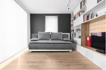 Kvalitná rozkladacia pohovka SALEM na každodenné spanie sivá