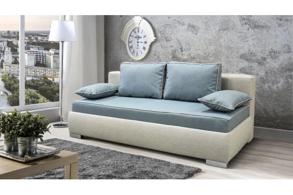 Kvalitná pohovka  na každodenné spanie TONI - modrá/cappuccino