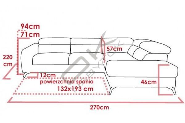 Rohová sedacia súprava CAMELIA - široký výber farieb
