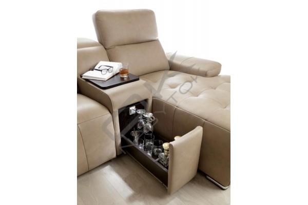 Sedacia súprava DOMO U, relax s manuálnym pohonom