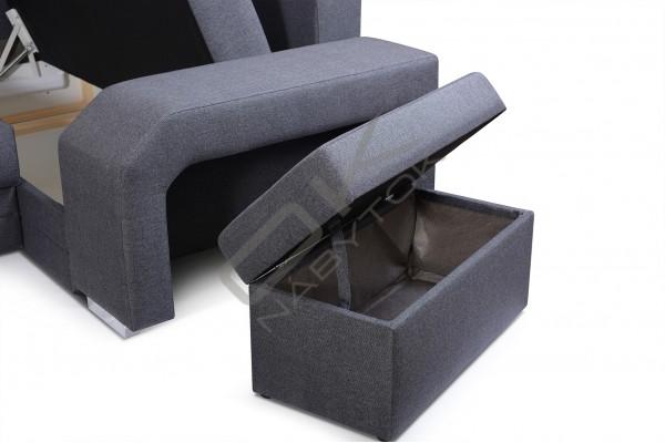 Rohová sedačka ASPERATA U - čierna
