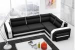 Asperata - Inari 100 čierna + eko koža Soft 17 biela/lem