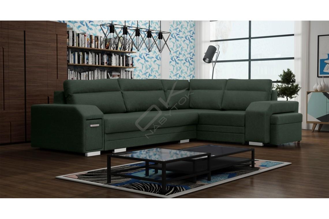 FENIX Rohová sedacia súprava ALFREDO - zelená