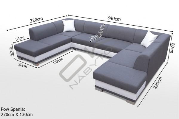 Rohová sedačka DARCI U - na výber viac farieb