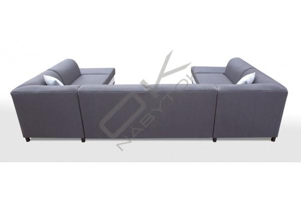 Rohová sedačka DARCI U - tmavosivá