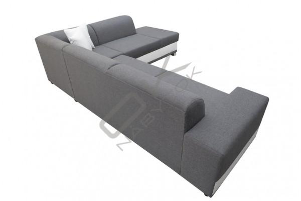 FENIX Rohová sedačka DARCI - svetlohnedá/biela