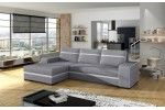 Fira - Inari 91 sivá + eko koža Soft 17 biela/lem