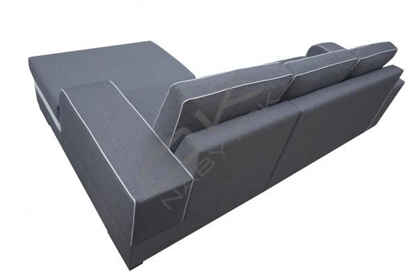 Rohová sedacia súprava FINN - čierna/biela