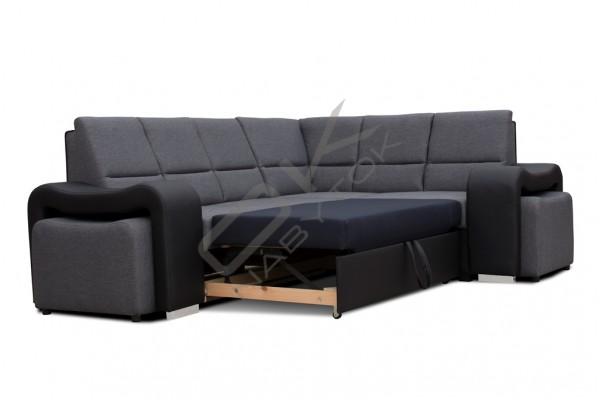 Rohová sedacia súprava ODY - čierna