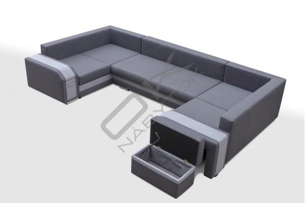 Rohová sedačka SANDY U - sivá/svetlosivá