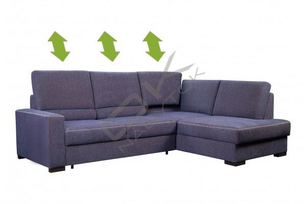 Rohová sedacia súprava MARKUS VEĽKÝ ROH - široký výber farieb