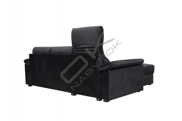 Rohová sedacia súprava  BARIOS čierna