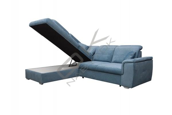 Rohová sedacia súprava  BERGAMO modrá