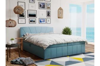 Posteľ CAIRO s roštom a úložným boxom + topper ZDARMA 160x200 / modrá