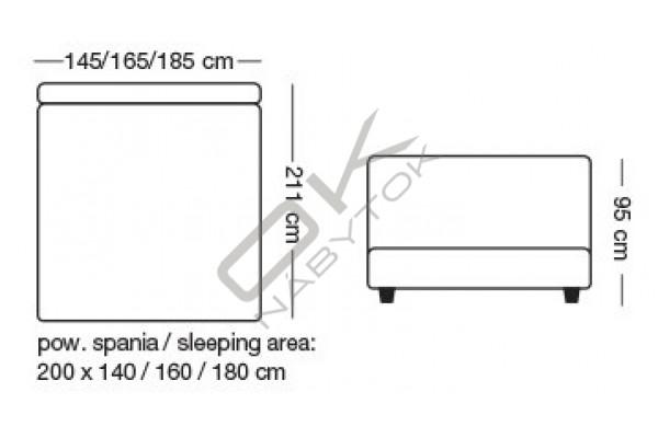 Posteľ CAIRO s roštom a úložným boxom + topper ZDARMA 160x200 / ružová