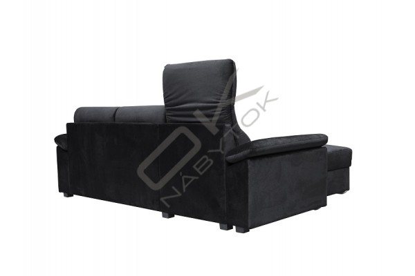 Rohová sedacia súprava  COMFORTO čierna