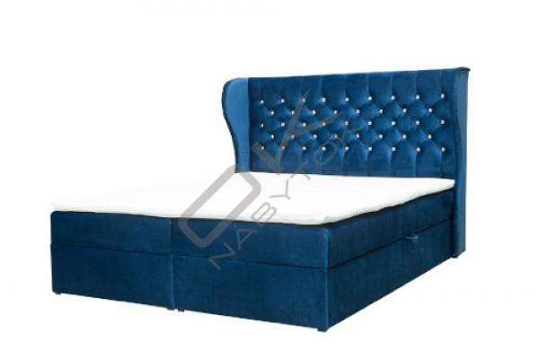 Posteľ CRYSTAL s úložným boxom + topper ZDARMA  / modrá
