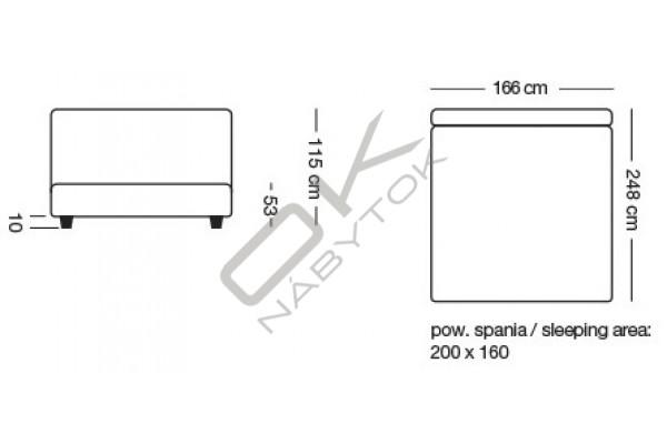 Posteľ IBERICO s úložným boxom 160 x 200 - khaki