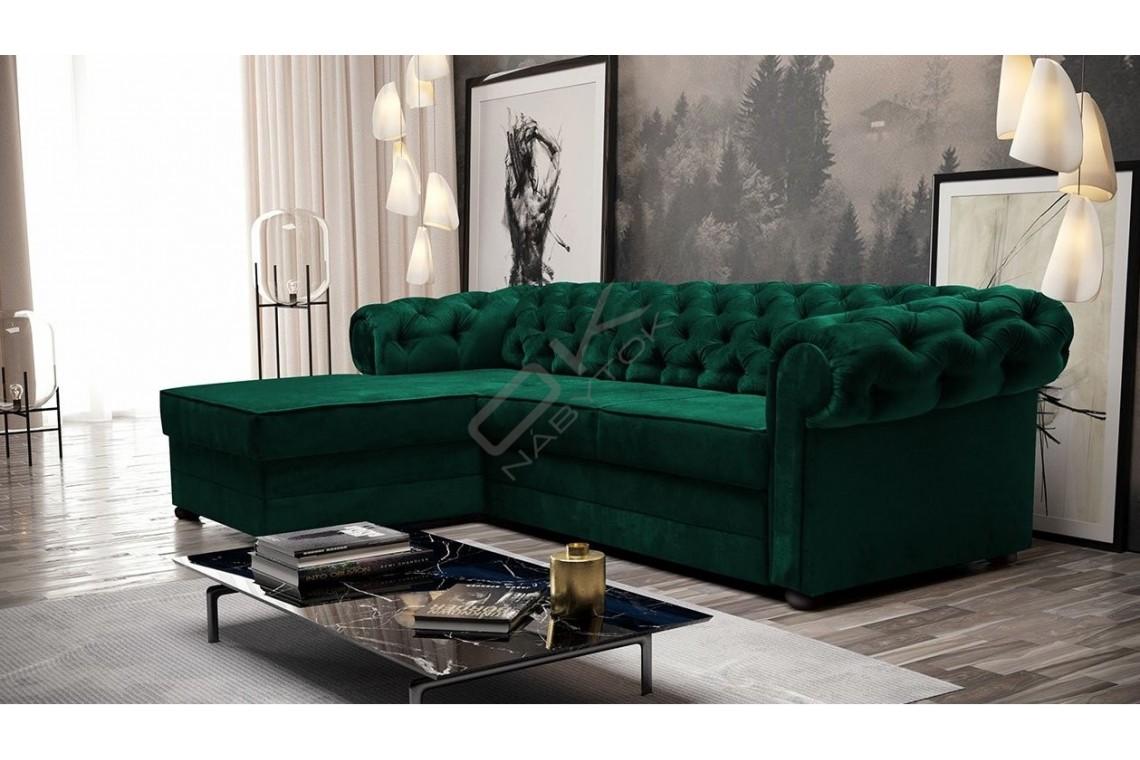 Rohová sedacia súprava  RAMONA zelená