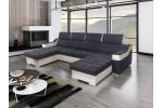 Amora - Lux 06 tmavosivá + eko koža Soft 31 biela