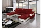 Amora - Lux 14 červená + eko koža Soft 31 biela