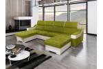 Amora - Lux 22 zelená + eko koža Soft 31 biela