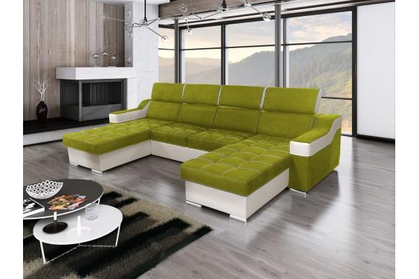 FENIX Rozkladacia univerzálna sedacia súprava AMORA - zelená/biela