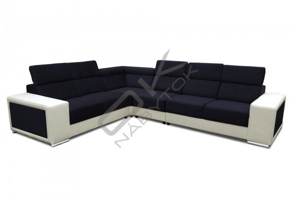 FENIX Rohová rozkladacia sedacia súprava CARI - biela