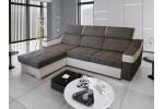 Caldo L - Lux 05 sivá + eko koža Soft 31 biela